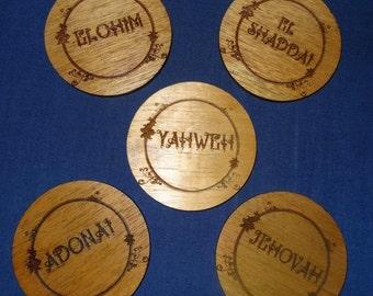 Names of God Coasters