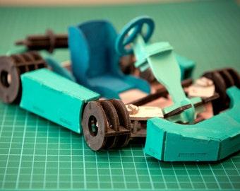 Go Cart 3D Car Wooden Toy Puzzle