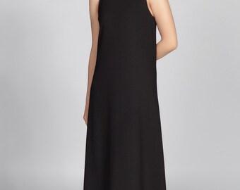 Maxi Dress Black Crepe