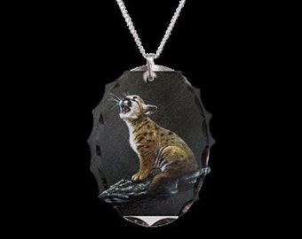 Baby Mountiona Lion Necklace