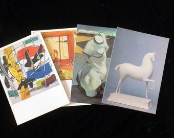 Vintage Postcards Destash, Large Collectible Art Postcards, Vintage Art Postcards, Wall Art, Mixed Media, Prints to Frame, Brett Whiteley