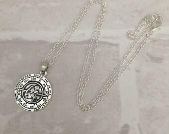 St Christopher's necklace - safe travels, wanderlust