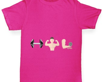 Girl's Gym Emoji T-Shirt