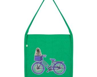 Pug On A Bike Tote Bag