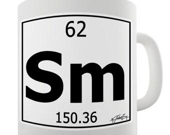 Periodic Table Of Elements Sm Samarium Ceramic Mug