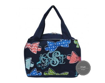 Monogrammed Bow tie Lunch bag