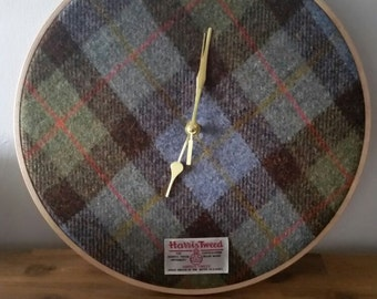 Harris Tweed Wall Clock