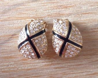 Original Christian Dior vintage clip earrings/Ohrringe