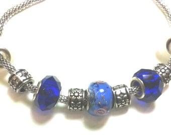 Bracelet collection Pandorissima of Dune blue