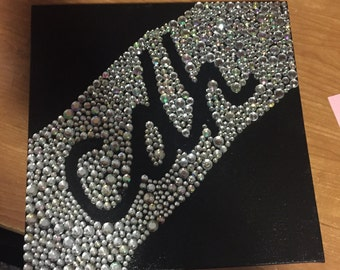 Initial Canvas with Jewels