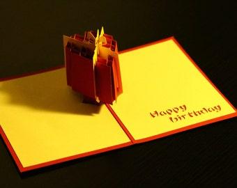 Birthday Gift Pop-Up Card, Happy Birthday, 3D, Sculpture