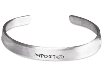 Imported Hand Stamped Cuff Bracelet