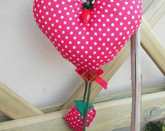 Heart to hang in fabric
