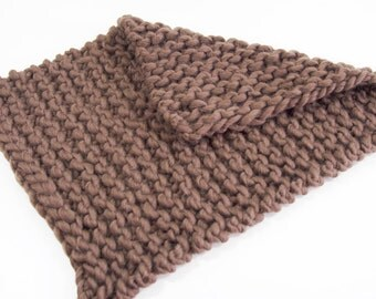 Blanket mini blanket bonnet hair band from Peruvian wool brown