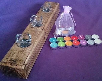 Hand crafted Wooden Candle holder