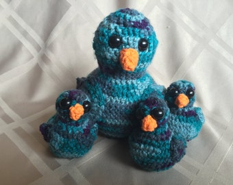 Crochet Amigurumi Adorable Bird Family