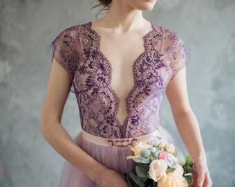 Lilac wedding dress - Serenity