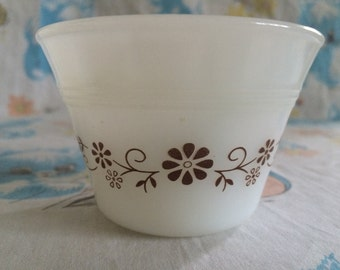 Vintage Dynaware small bowl with brown floral trimming