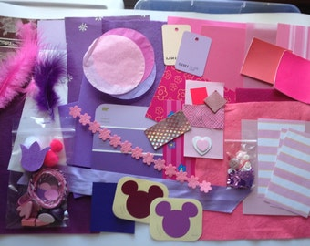 Collage Kit in Pink and Purple