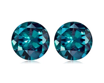1.17-1.71 Cts of 5 mm AAA Round ( 2 pcs ) Loose Russian Lab Created Alexandrite Gemstone-382284