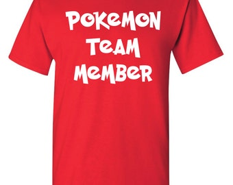 Pokemon Shirt Official Red Team Member Valor Adult Size Small - 3XL Available