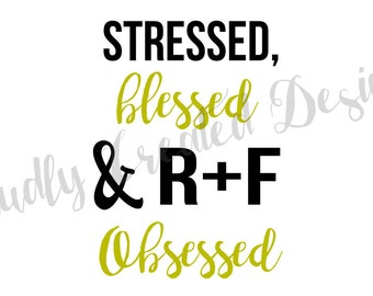 R+F Decals-RF decals-rf stickers-rodan fields decals-rodan fields stickers-wrinkle warrior-stressed blessed RF obsessed-beauty-forever young
