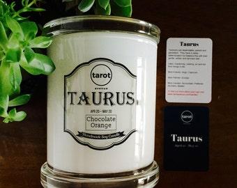 Taurus - Zodiac Candle - Chocolate Orange