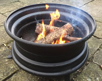 Upcycled Lorry Wheel Patio Heater / Fire Pit / BBQ