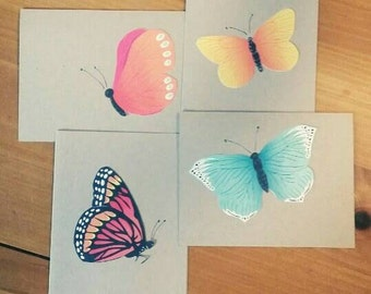 Upcycled Butterfly Blank Set