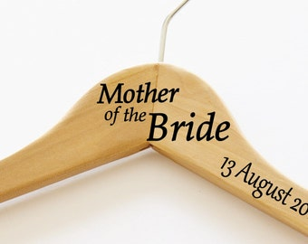 Mother of the Bride Timber Wedding dress hanger | I do | Bridal Gift | Bridal Hanger with date | Bridal Gifts | Custom Quote Hanger | Family