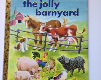"Little Golden Book - ""The Jolly Barnyard"""