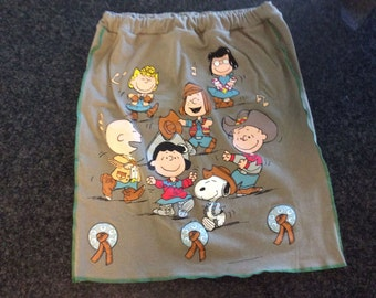 T-Shirt Skirt, Womens L, Charlie Brown