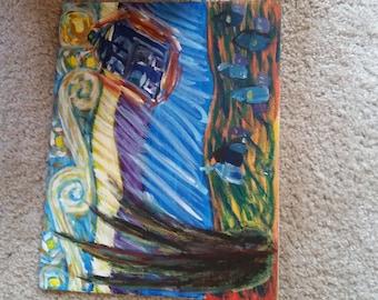 Starry Night with Tardis