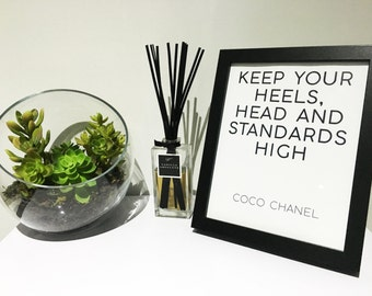 Black 8x10 Frame - Coco Chanel