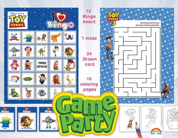 Toy Story Birthday Games : Toy story game boy birthday theme party games instant