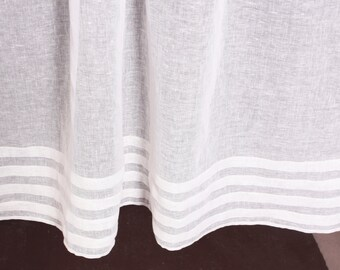 White Linen Curtains, White Curtain Panel, Custom Lenght, White Curtains, Sheer Curtains, Linen Curtains, Linen Window Panels