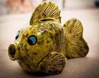 Handmade Ceramic Fishy Bank