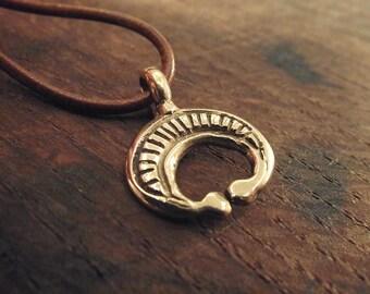 Roman Lunula in bronze moon pendant replica