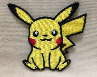 Pikachu Pokemon Go  Iron On Patch #White