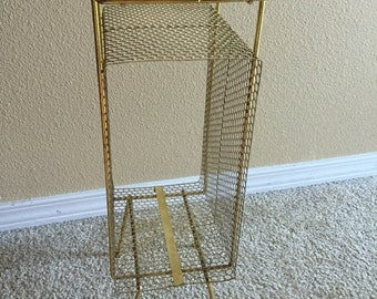 Vintage Gold Wired Telephone Stand Side Table