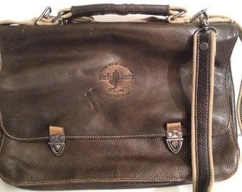 Leather Men's Bag Marlboro Classic Messenger Satchel Brown