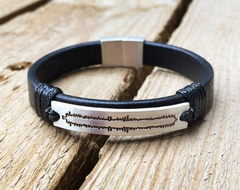 Personalized heartbeat bracelet, heartbeat cuff, customize bracelet, mommy to be bracelet, mommy to be jewelry, mommy to be gift, leather