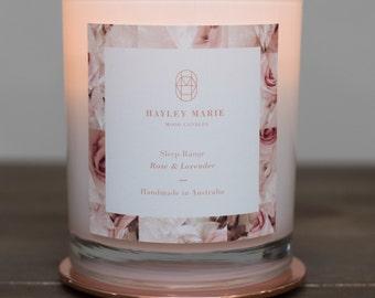 Rose and Lavender 700g Candle~ Aromatherapy Sleep Range