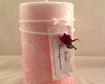 "Stearin scented candle ""Rose"""
