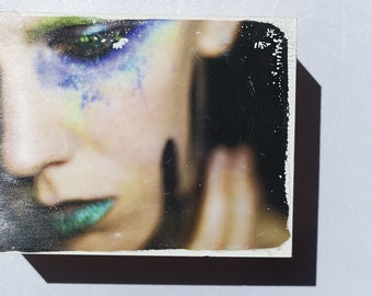 Alter Egos - Glamour #2 OOAK Acrylic Photographic Image Transfer