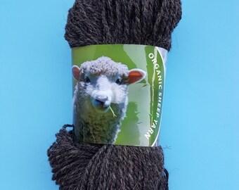 100% Organic knitting yarn; organic wool yarn; sheep yarn
