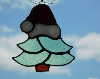 Christmas Tree w/ Santa Hat