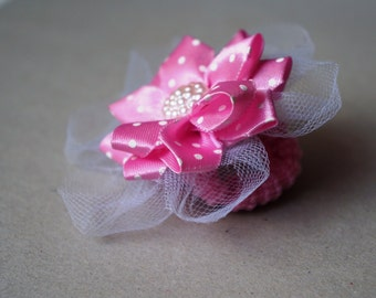 Baby Pink Princess Mini Hair Bow