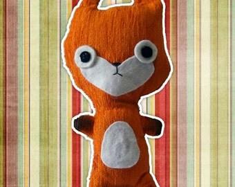 Plush handcrafted   Mr. Fox-Fox   Snowman   Gift idea