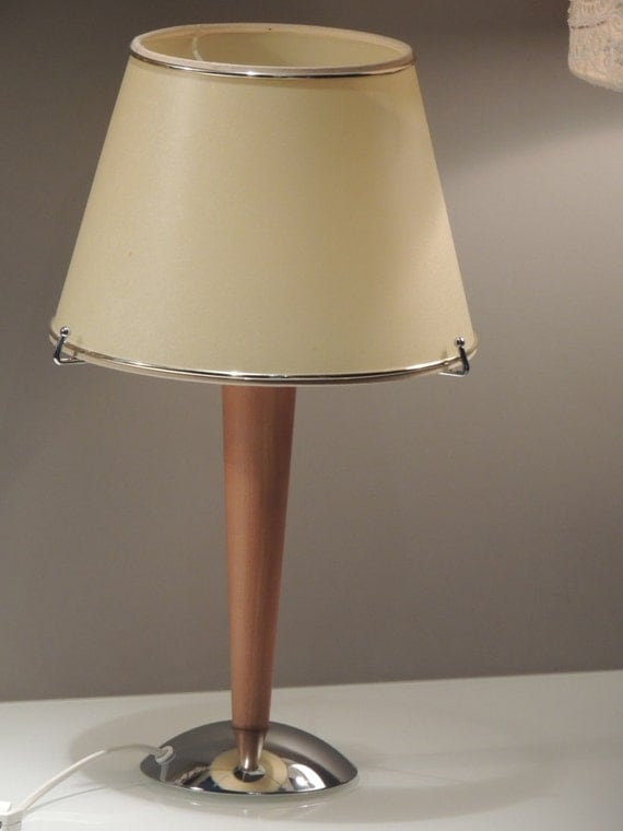 Modernist style lamp 50 was 60 70 vintage wooden s